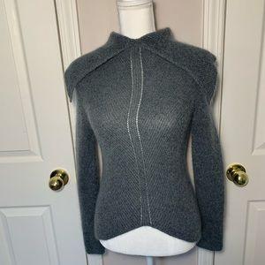 Giorgio Armani gray knit turtleneck sweater size 4
